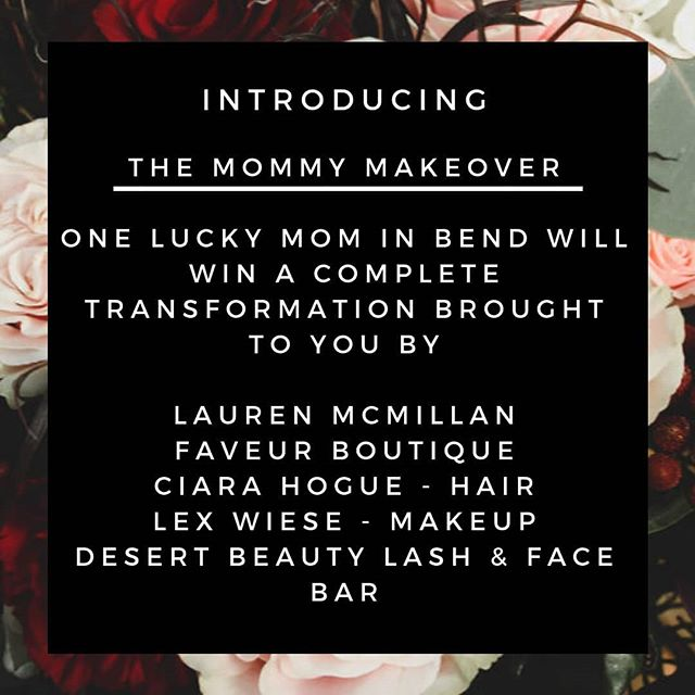 It's a new year and one lucky mama is about to feel like a brand new person 🙌I'm very excited to announce a mommy makeover giveaway here in Bend, I've collaborated with some amazing local business to bring one lucky mom an amazing transformation!  Visit laurenmcmillan.com/mommymakeover for more details and to enter ✨ we will be picking the winnter based of who we feel needs this the most💕 winner announced on Feb 3rd