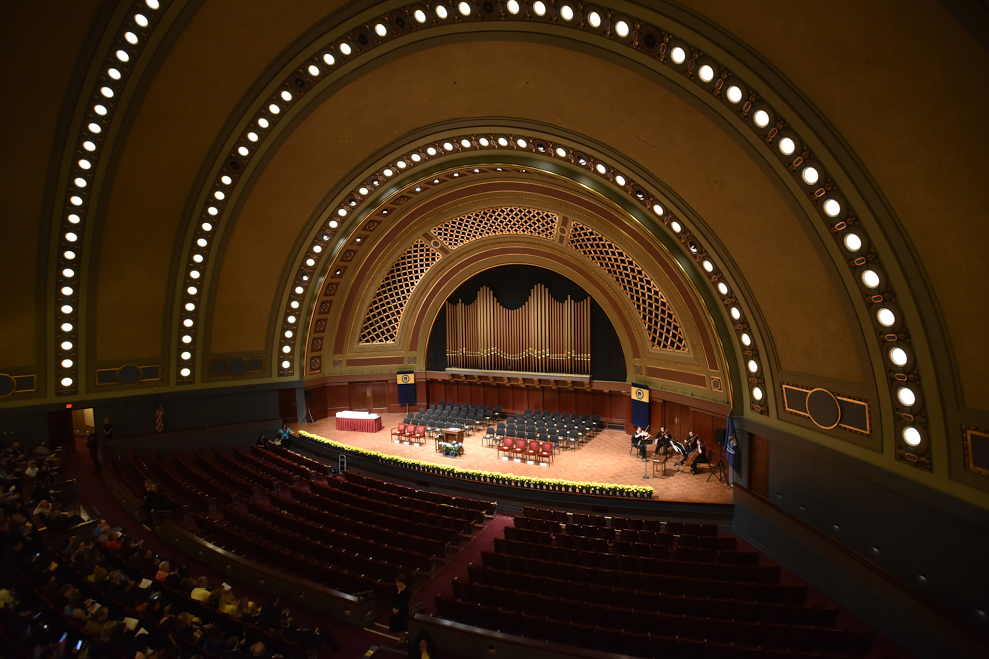 Hill Auditoriam at the University of Michigan
