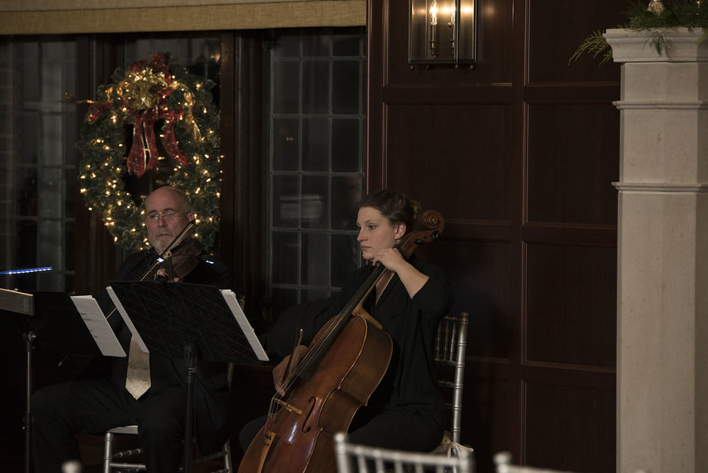 White Pines Entertainment String Trio performing prelude music before the ceremony. Captured by Lindsay Wingett with  Parties and Poses