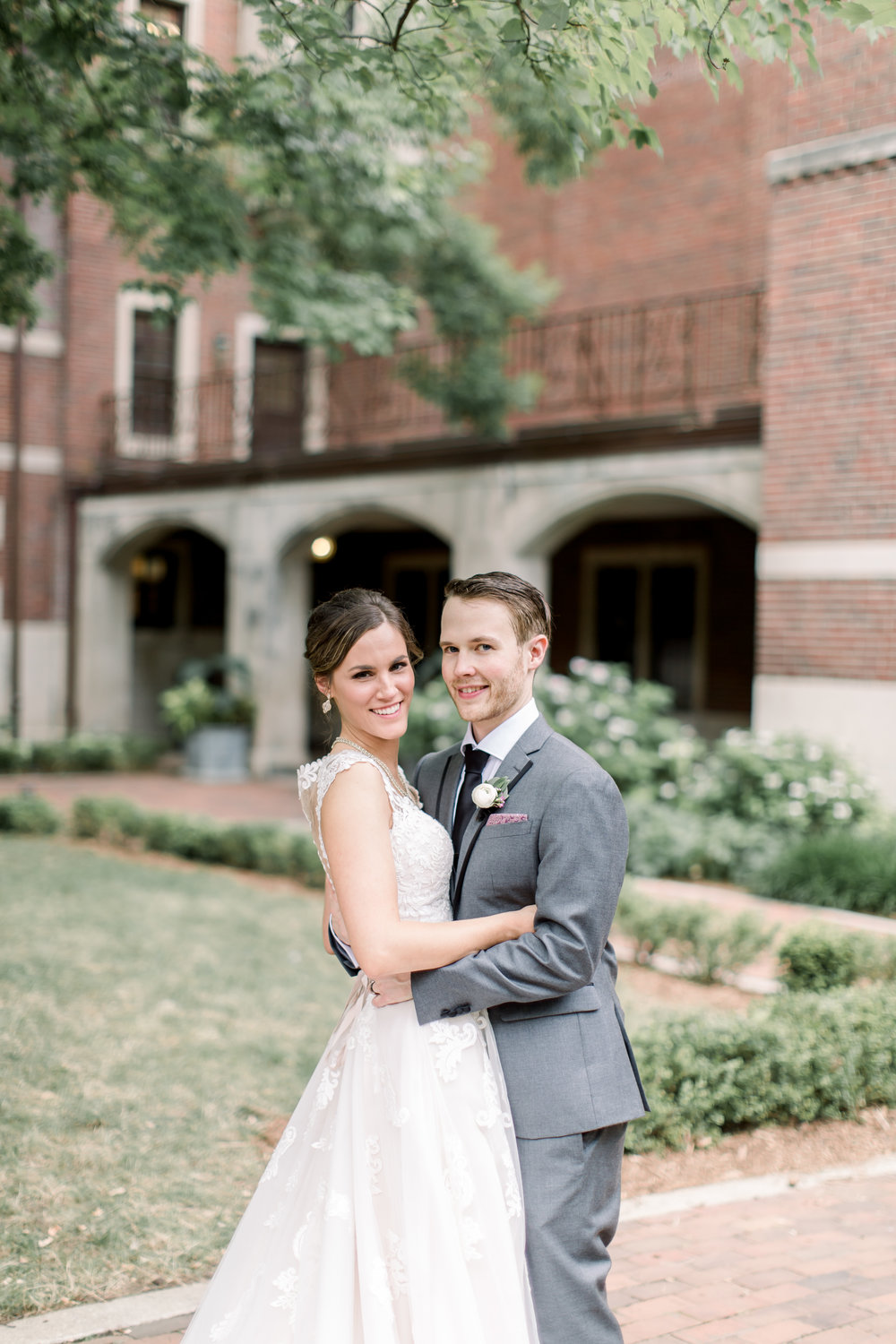 Wedding on University of Michigan Campus. Photo captured by Tiffany Kelly of  TRK Photography