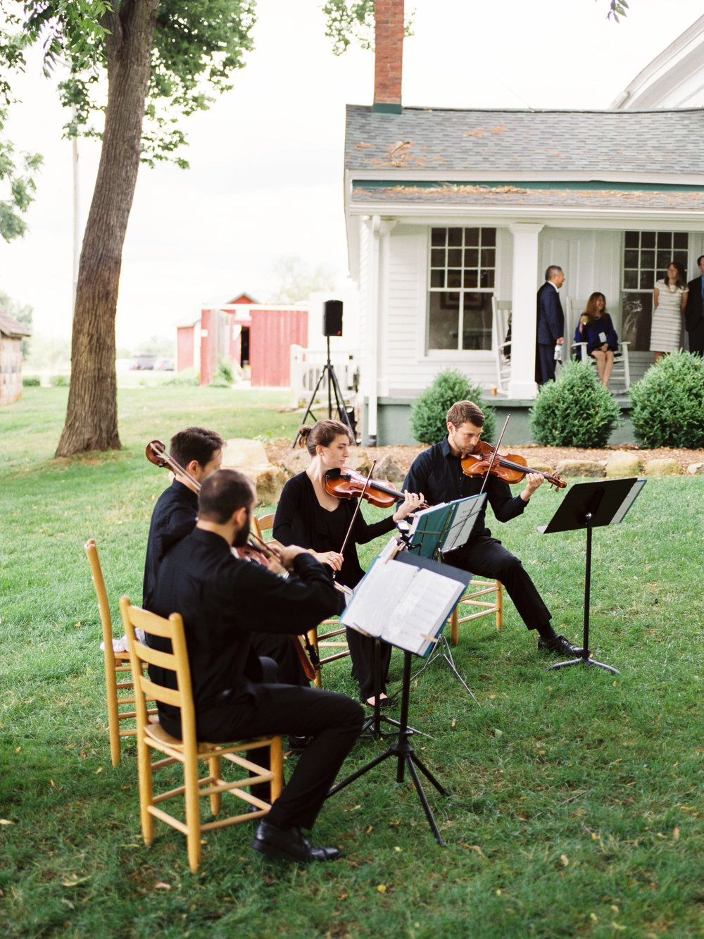 String Quartet playing ceremony music captured by  Sean Cook Photography