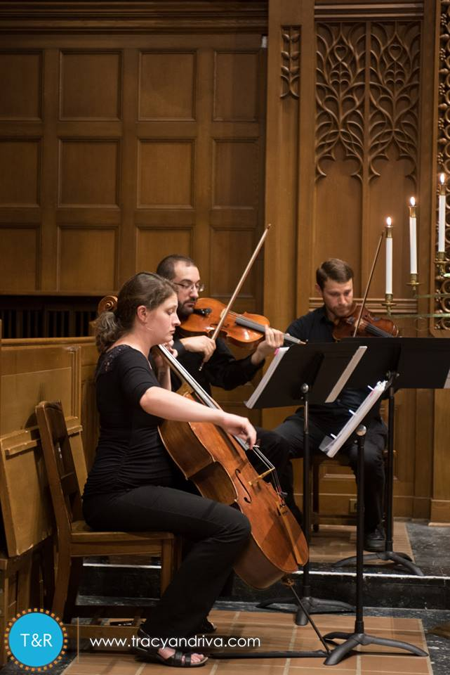 White Pines Entertainment String Trio performing Bach Jesu, Joy of Man's Desire as captured by  Tracy and Riva Photography
