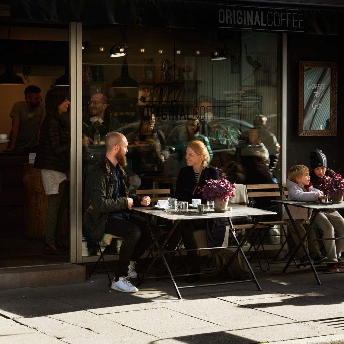 """Bredgade - """"Open kitchen, big smiles & excellent coffee - served in a relaxing setting in the heart of Copenhagen!""""– Ditte, manager at Original Coffee BredgadeWeekdays: 7.30-18.30Saturday:9.00-17.00Sunday: 9.00-17.00Bredgade 36, 1260 København K.bredgade@originalcoffee.dk+45 52 500 523"""