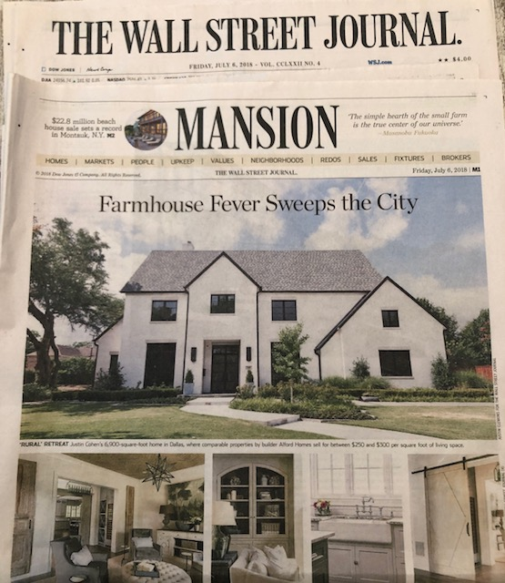 Lisa Gabrielson Interior Design featured in the Wall Street Journal