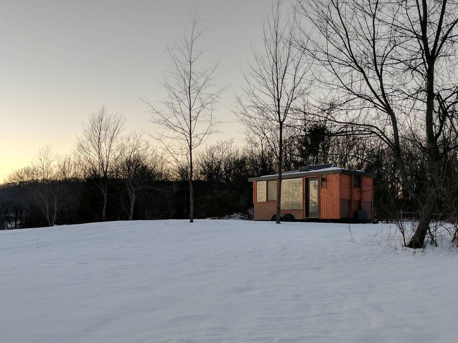 Seth Porges' Tiny House, about an hour north of New York City. Source: Seth Porges/Airbnb