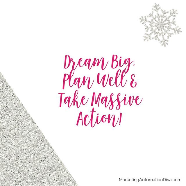 Let's all dream big, plan well & take massive action in 2017! #passionintoprofitonline
