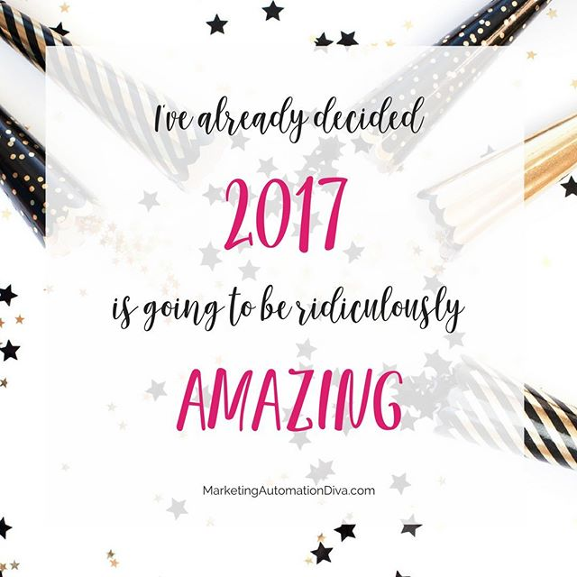 Happy New Year!  I've already decided that 2017 is going to be ridiculously AMAZING! #passionintoprofitonline
