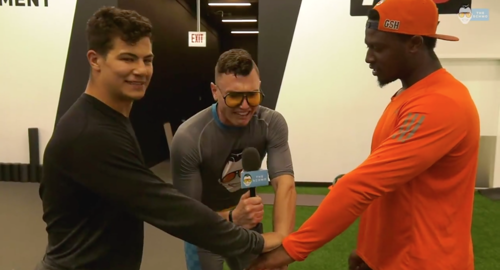 NHL v NFL Workout: Jordan Howard & Connor Carrick -