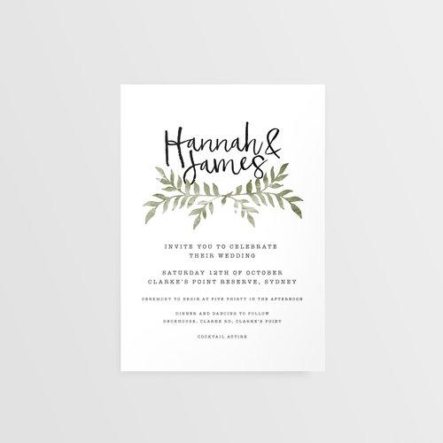 Minimal Typewriter Wedding Invitation Honest Invites