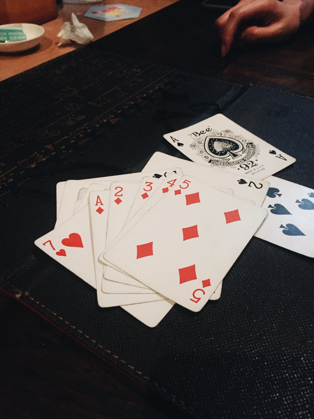 Played Poker after seeing Joyce's concert and this happened.