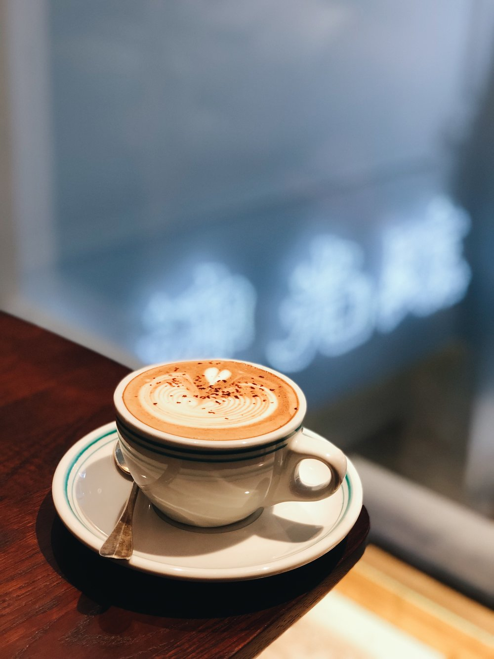 Latte on rainy Sunday