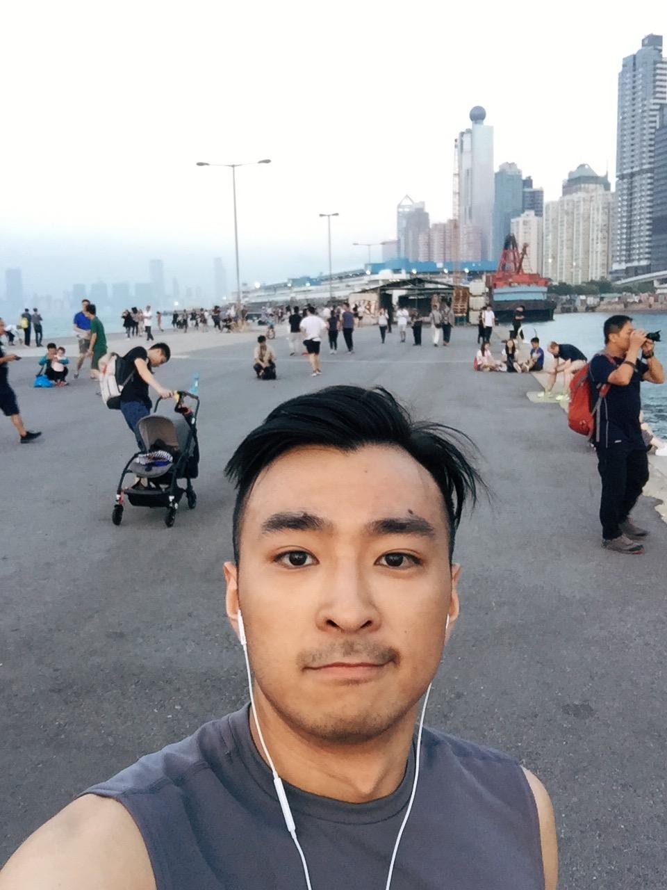 Running at Instagram Pier
