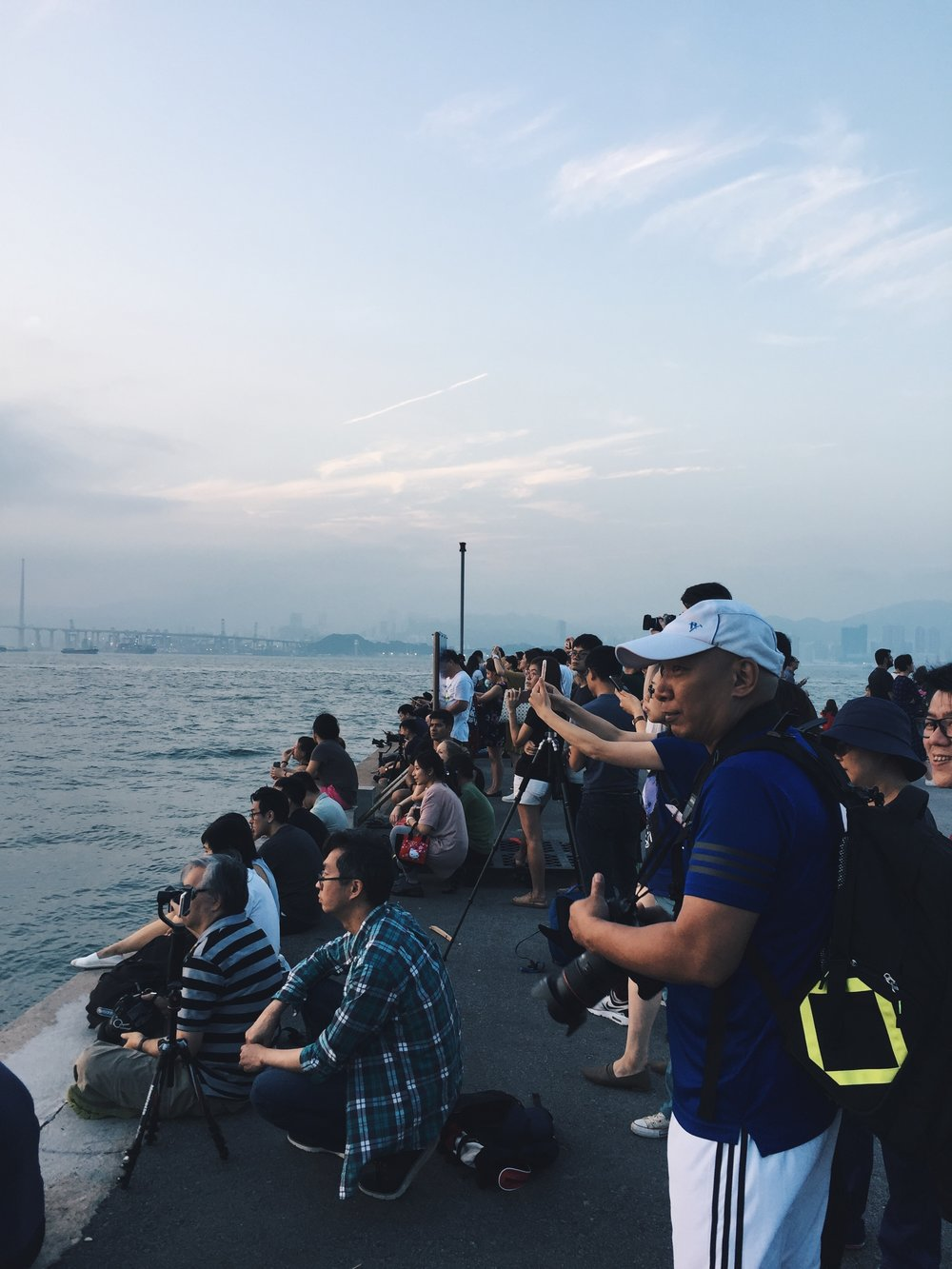 People taking pictures at Instagram Pier