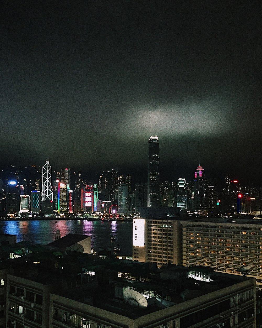 The Victoria Harbor from Tsim Sha Tsui