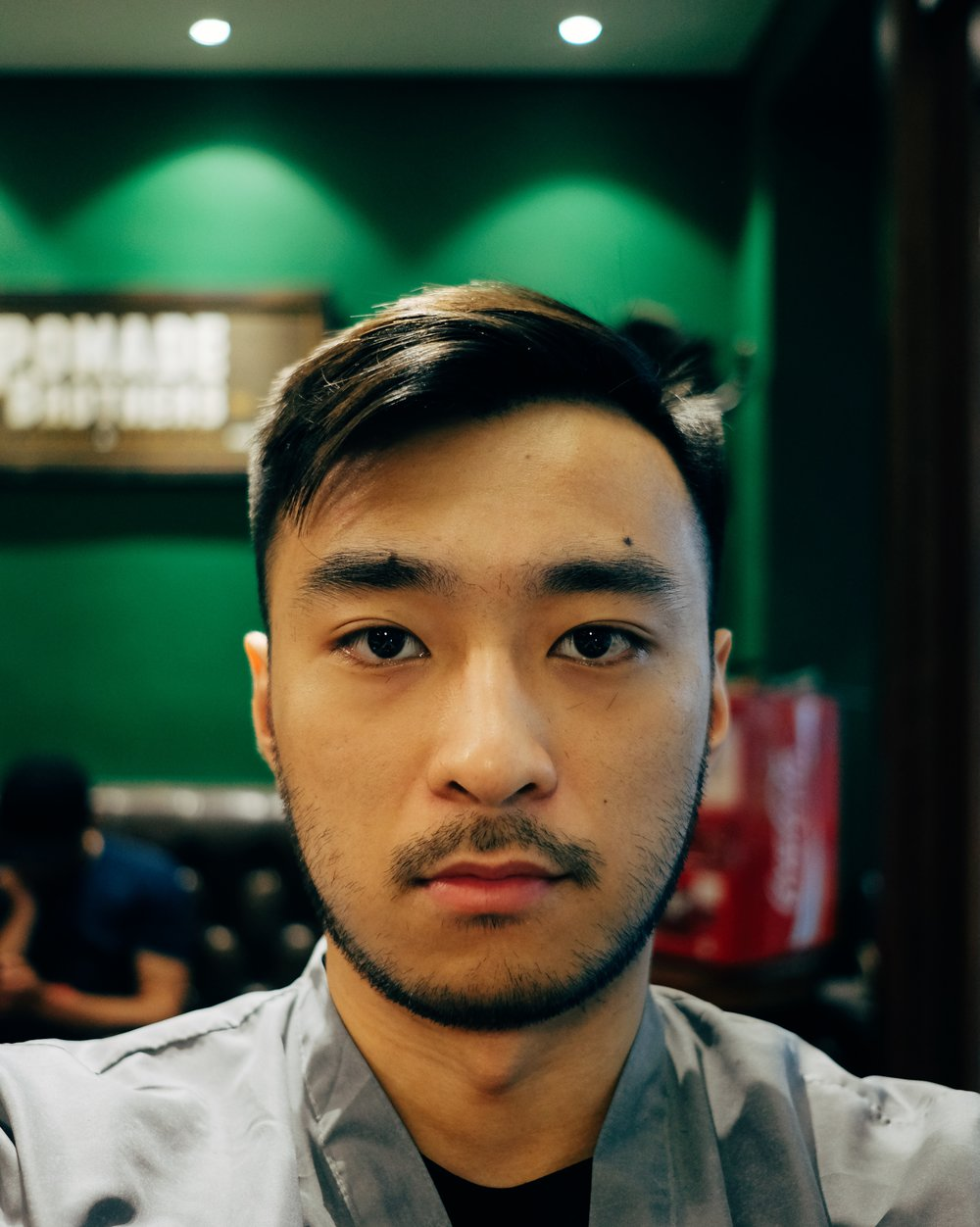 After (but before styling with Pomade)