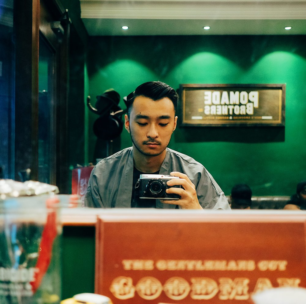 After Styling with Pomade