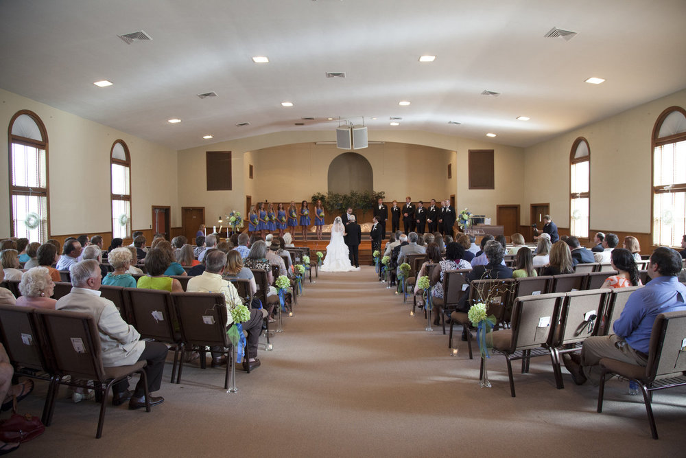 They got married at the same church that Desire's parents got married in ...