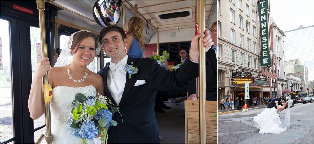 A historic trolley ride through the city, stopping at many of Knoxville's iconic places.