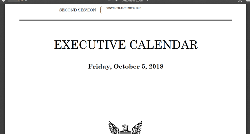Senate Executive Calendar Oct 5th 2018.png