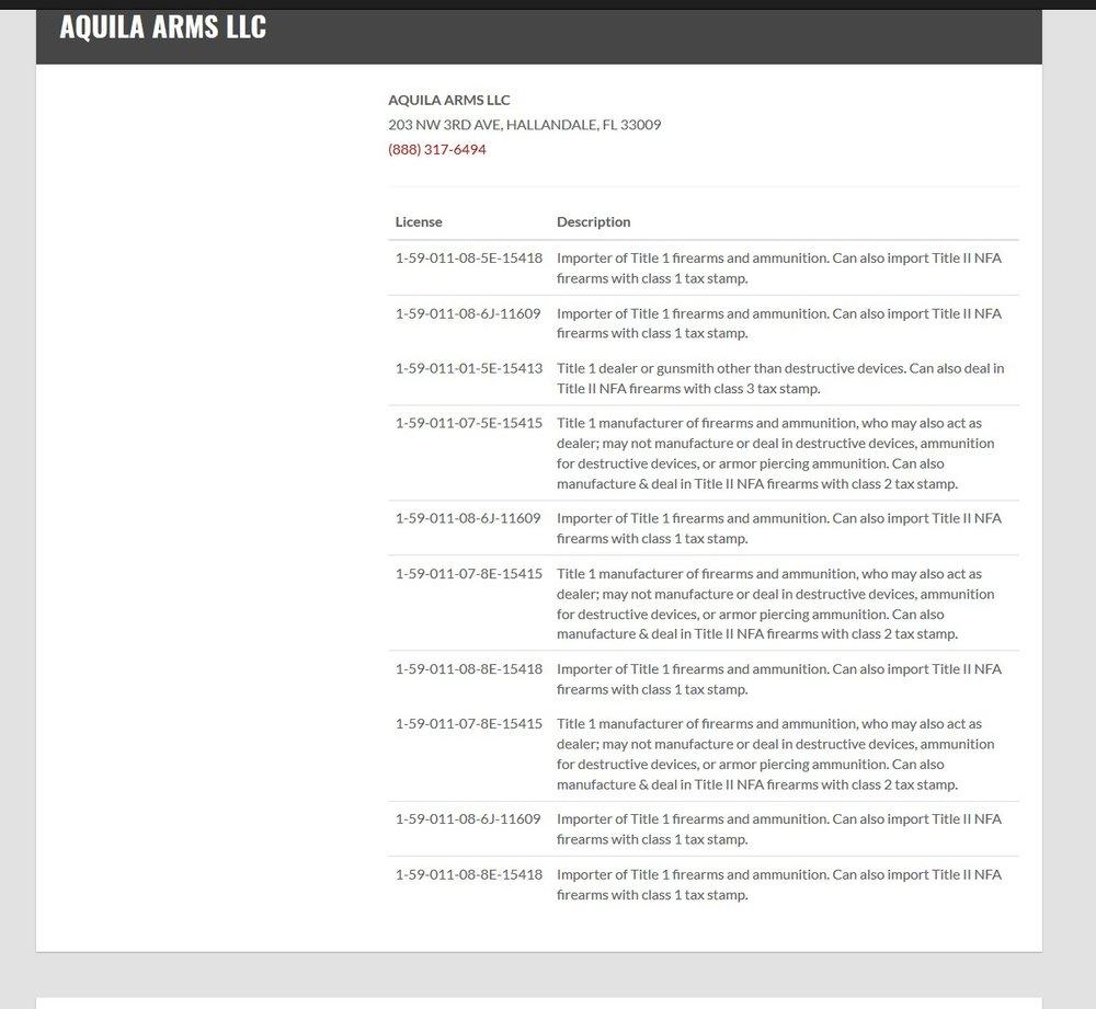 Aquila Arms long gun license.jpg