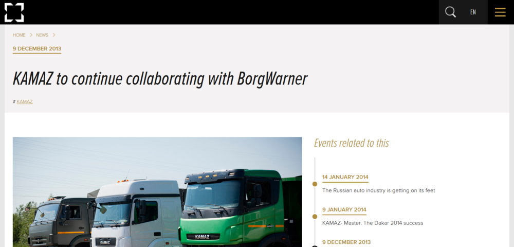 KAMAZ press release 2013 partners with BorgWarner.png