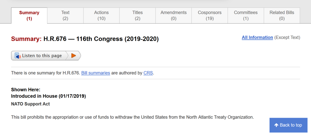 NATO bill Jan 17th prohibits U.S. from withdrawing from NATO.png