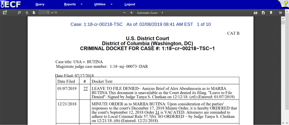 Butina docket 8 a.m. Feb. 8th.png