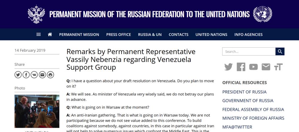 Russia press release on Venezuela Feb 14th 2019.png