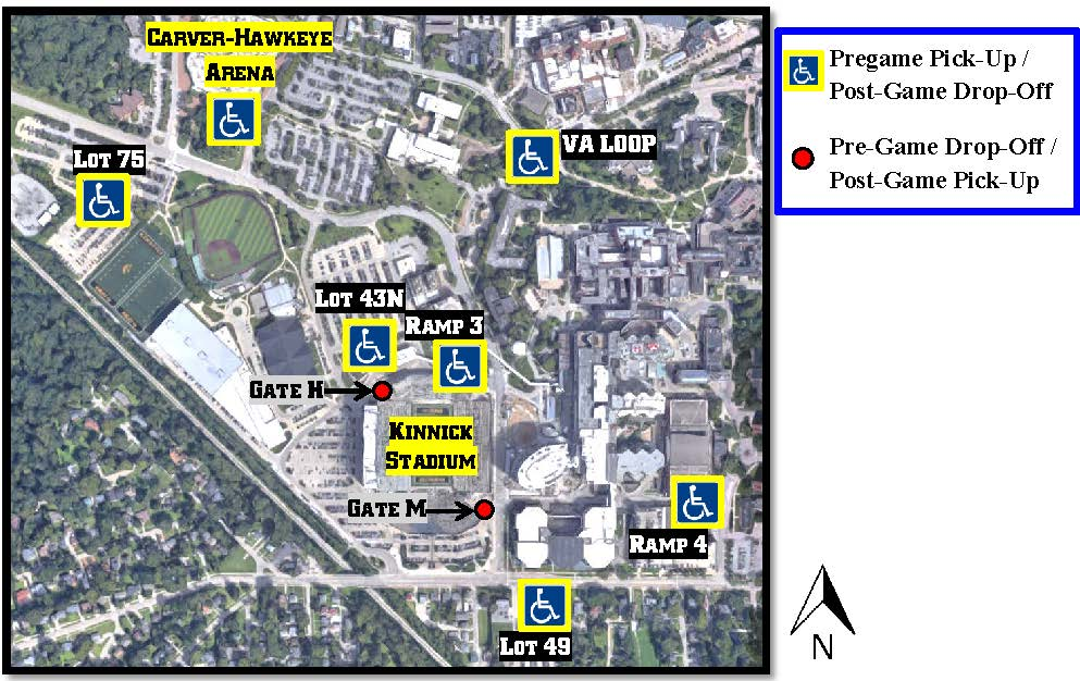 Kinnick Stadium Map Maps — Iowa Football Gameday Kinnick Stadium Map