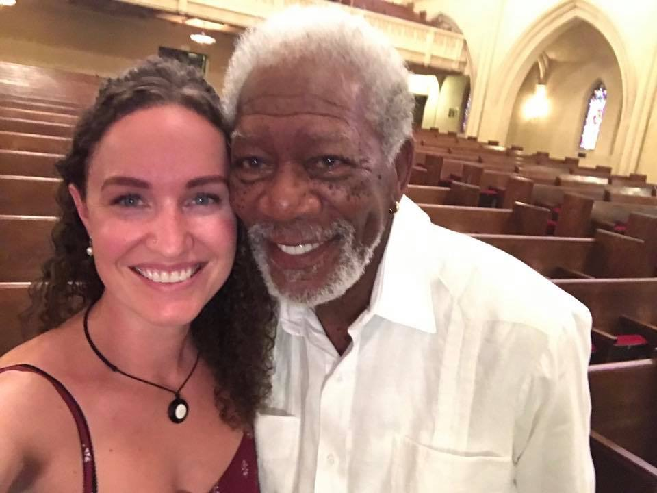 "Megan Phelps Roper was interviewed by Morgan Freeman on National Geographic Channel's ""The Story of Us."""