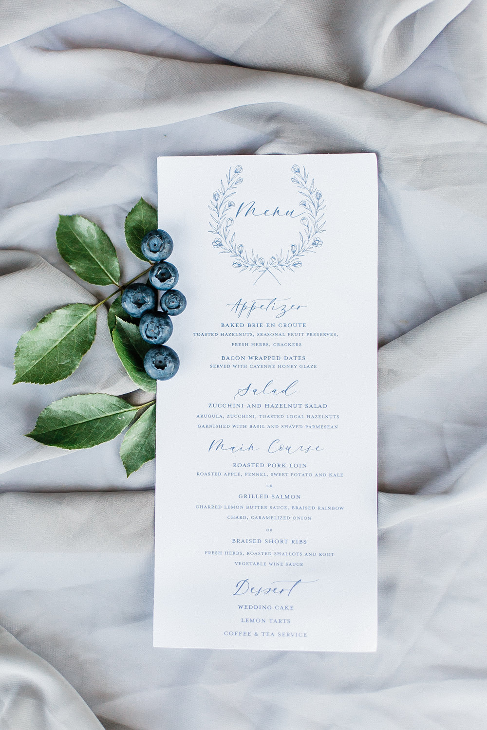 Menus - Menus are a great way to bring your whole design together! Custom menus starting at $1.50 per piece.