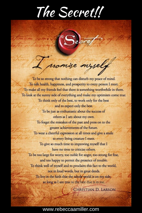 The Secret   is a best-selling 2006  self-help  book by  Rhonda Byrne , based on the  earlier film  of the same name. It is based on the pseudoscientific  law of attraction  which claims that thoughts can change the world directly. The book has sold 20 million copies worldwide and has been translated into 50 languages.