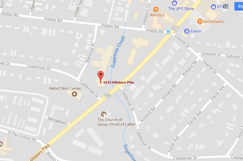 Third Gear is located in the Green Hills Office Building at the corner of Hillsboro Pike and Castleman Drive.