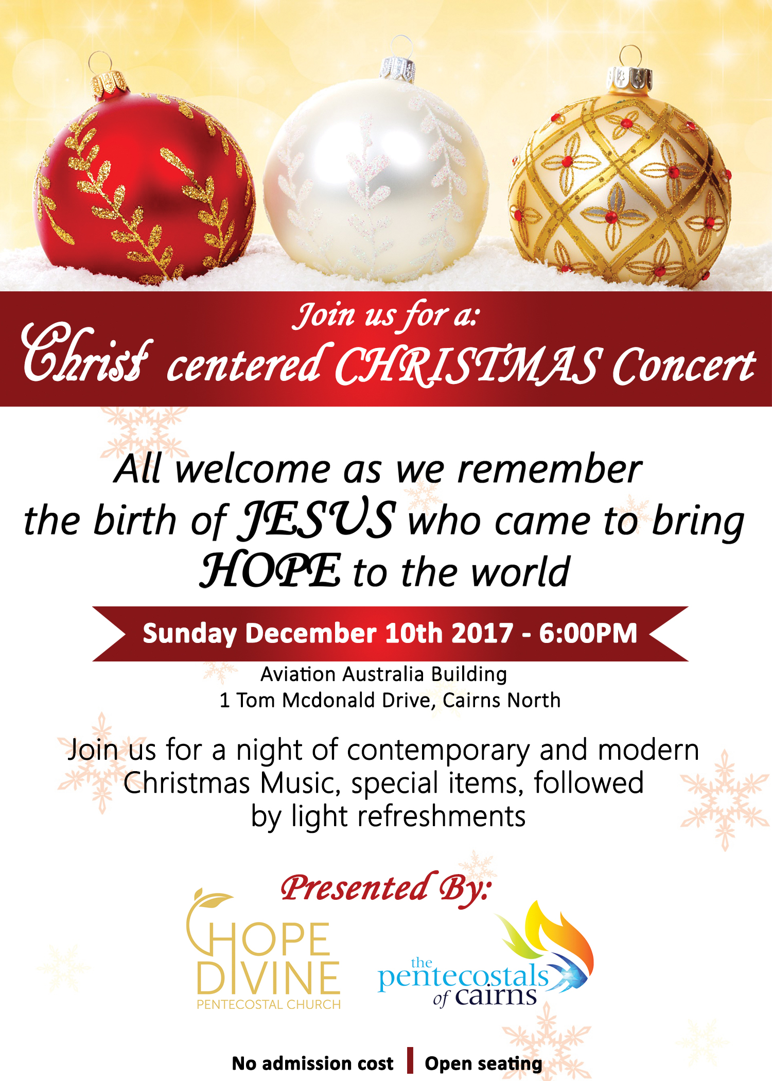 Christ centered Christmas Concert — The Pentecostals of Cairns