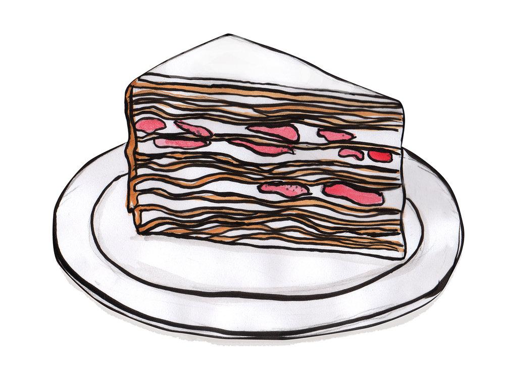Crepe cakes at L'otus Cake Boutiques
