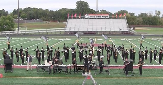 The East Ridge Marching Raptors just completed their first ever marching band competition at Irondale's Music of the Knight. Great job, band! #goband