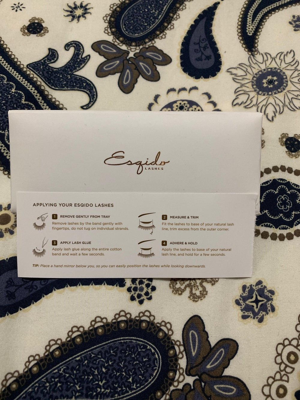 Esqido Mink Lash Box and Instructions
