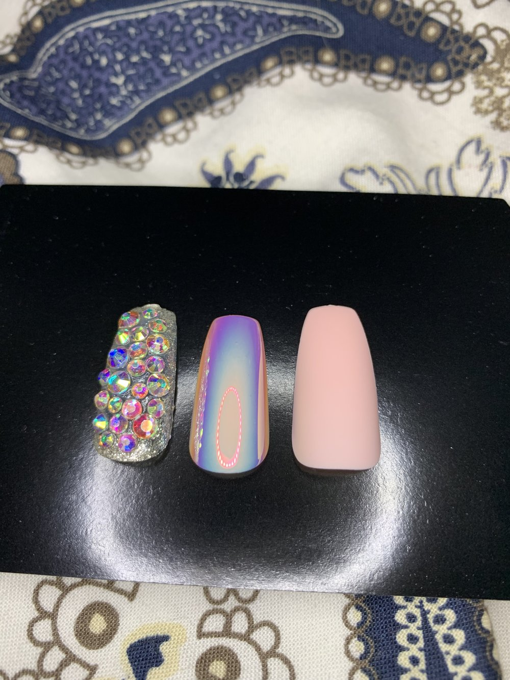 Different style nails. Note the squared off bottom on the right.