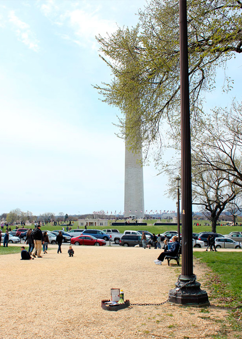 In front of Washington Monument. The Mall, Washington D.C.