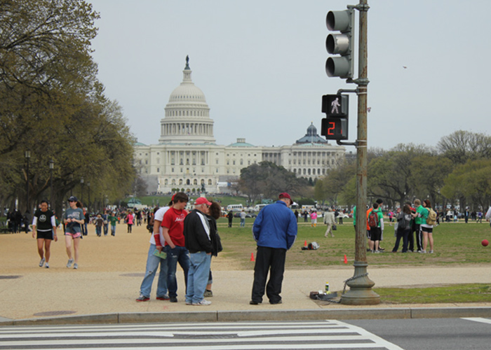 In front of Capitol Building