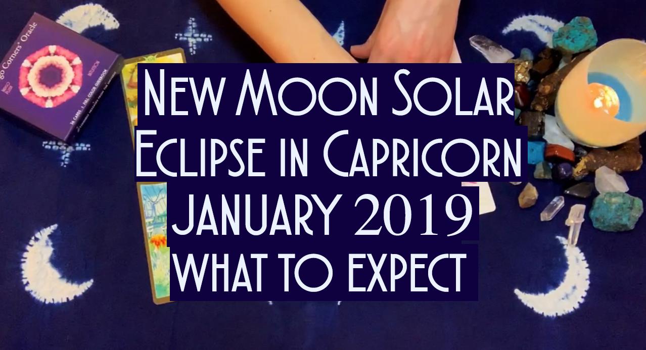 🌑New Moon Solar Eclipse🌤 ⛅️ 🌥in Capricorn ♑️Jan 5