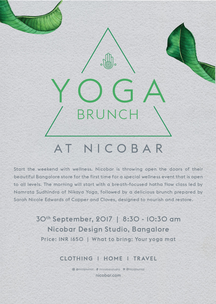 Yoga Brunch at Nicobar Poster