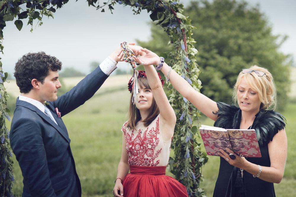 Sophie & Mike Wedding Ceremony at Huntstile Farm