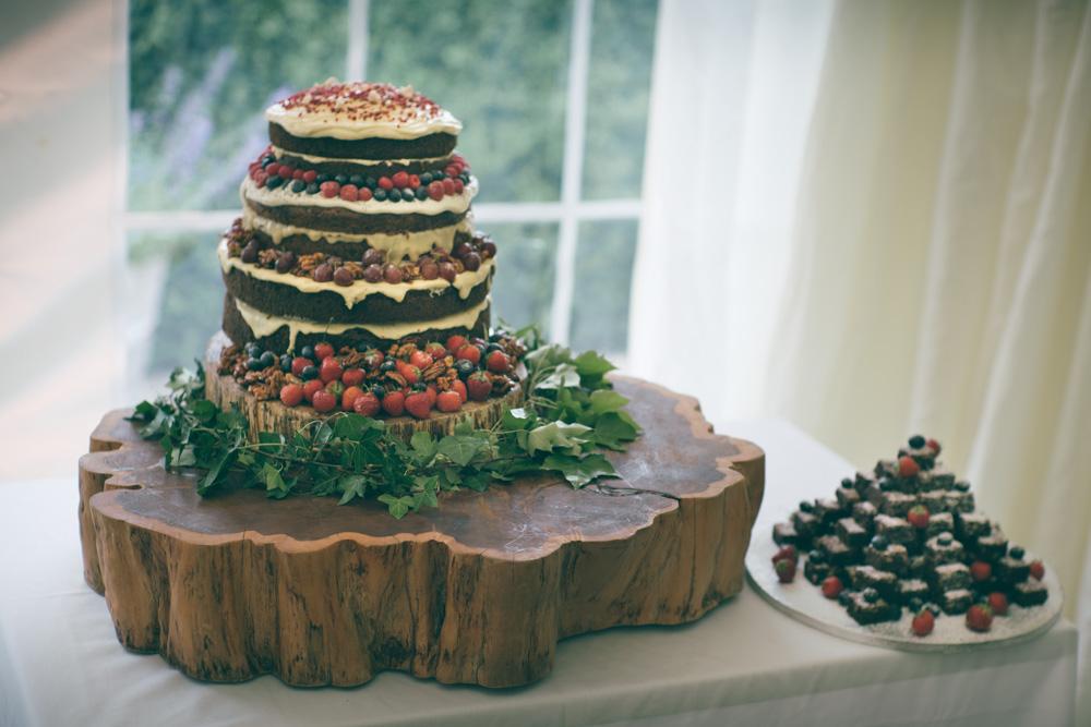 Sophie & Mark Wedding at Hunstile Farm - Cake