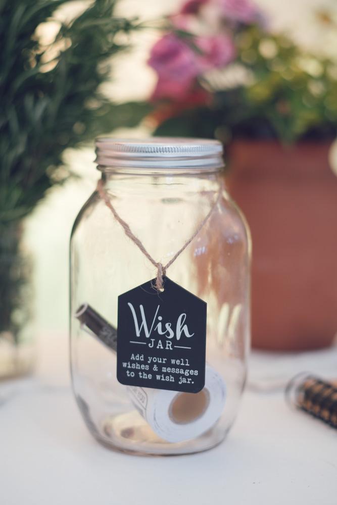 Sophie & Mike Wedding at Huntstile Farm - Wish Jar