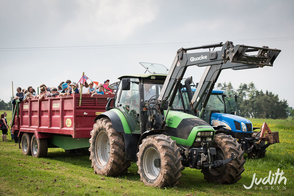 Huntstile Farm Open Day Tractor Ride