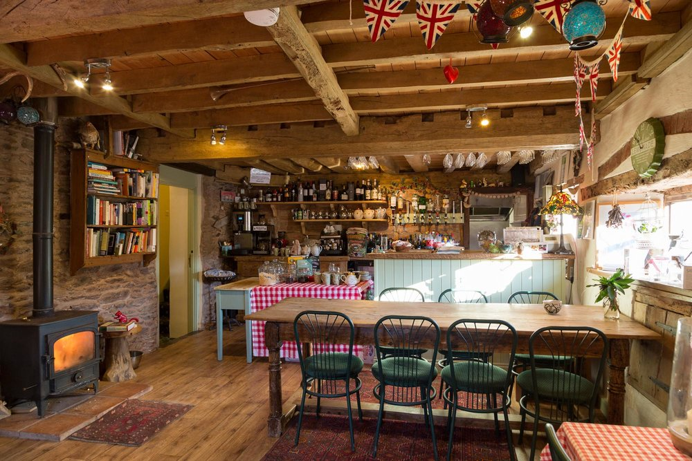 Cafe and snug at Huntstile Organic Farm