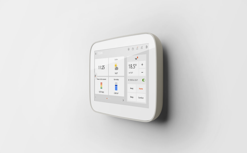 Home comfort - With Toon's thermostat function, you can adjust your preferences (At home, Sleep, Comfort & Away) and program a weekly schedule. You can also set the temperature manually.