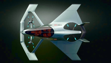 Three propellers driven by electric hybrid motors will enable the aircraft to take off vertically, and land the same. Thus no runway is required.