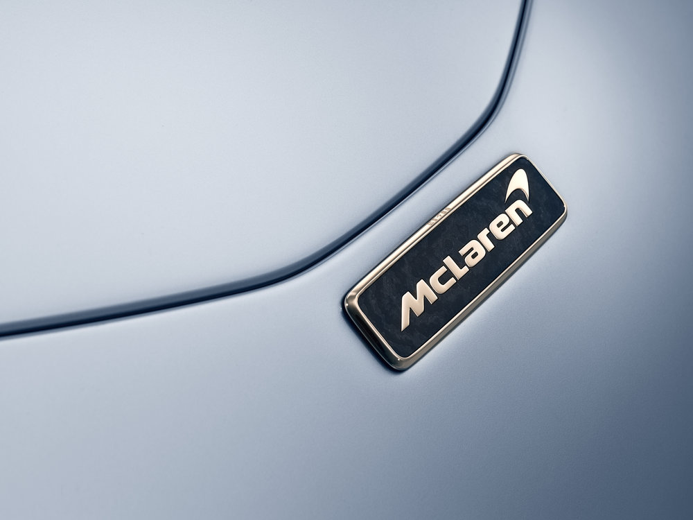 Owners can augment their experience buy purchasing a solid gold McLaren badge.
